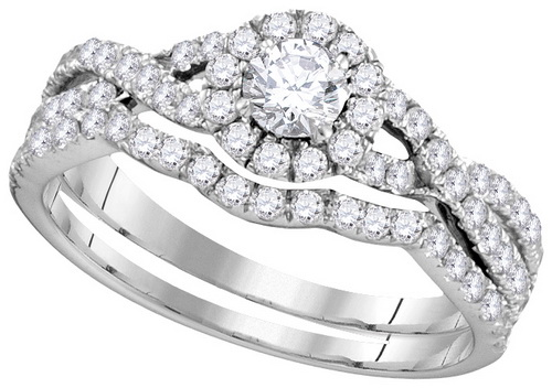 Ladies Two Piece Set 14K White Gold 1.00 ct. GD-111762