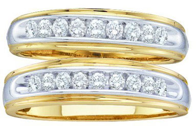 Two Piece Wedding Set 10K Yellow Gold 0.50 cts. GD-27037