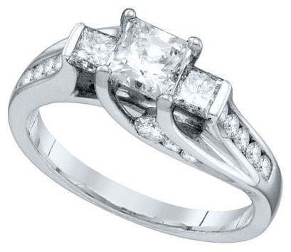 Ladies Engagement Ring 14K White Gold 1.25 cts. GD-67301