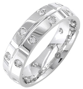 Diamond Wedding Band 14K White Gold 0.51 cts. DWB-2151