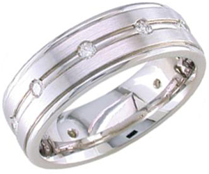 Diamond Wedding Band 14K White Gold 0.32 cts. DWB-2252