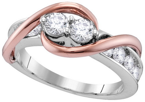 Ladies Diamond Promise Ring 14K White Gold 0.50 cts. GD-112654
