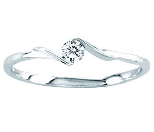 Ladies Diamond Promise Ring 14K White Gold 0.10 cts. CL-21934