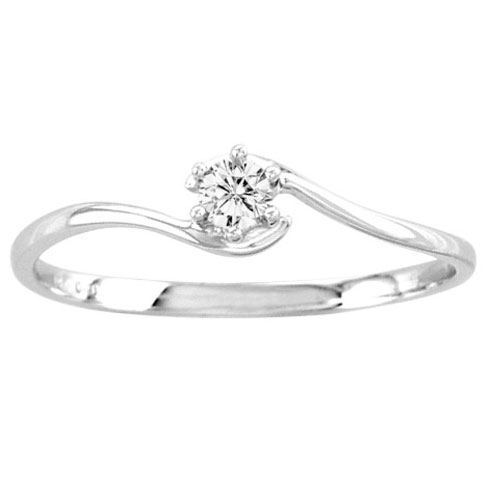 Ladies Diamond Promise Ring 14K White Gold 0.10 cts. CL-21935