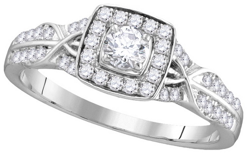 Ladies Diamond Bridal Ring 14K Gold 0.50 cts. GD-111741