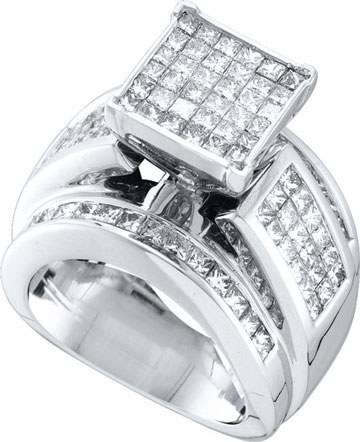 Ladies Diamond Engagement Ring 14K White Gold 1.00 ct. GD-26732