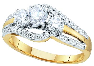 Ladies Diamond Engagement Ring 14K Yellow Gold 1.00 ct. GD-45475